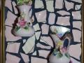 Tiny Pink China Vases