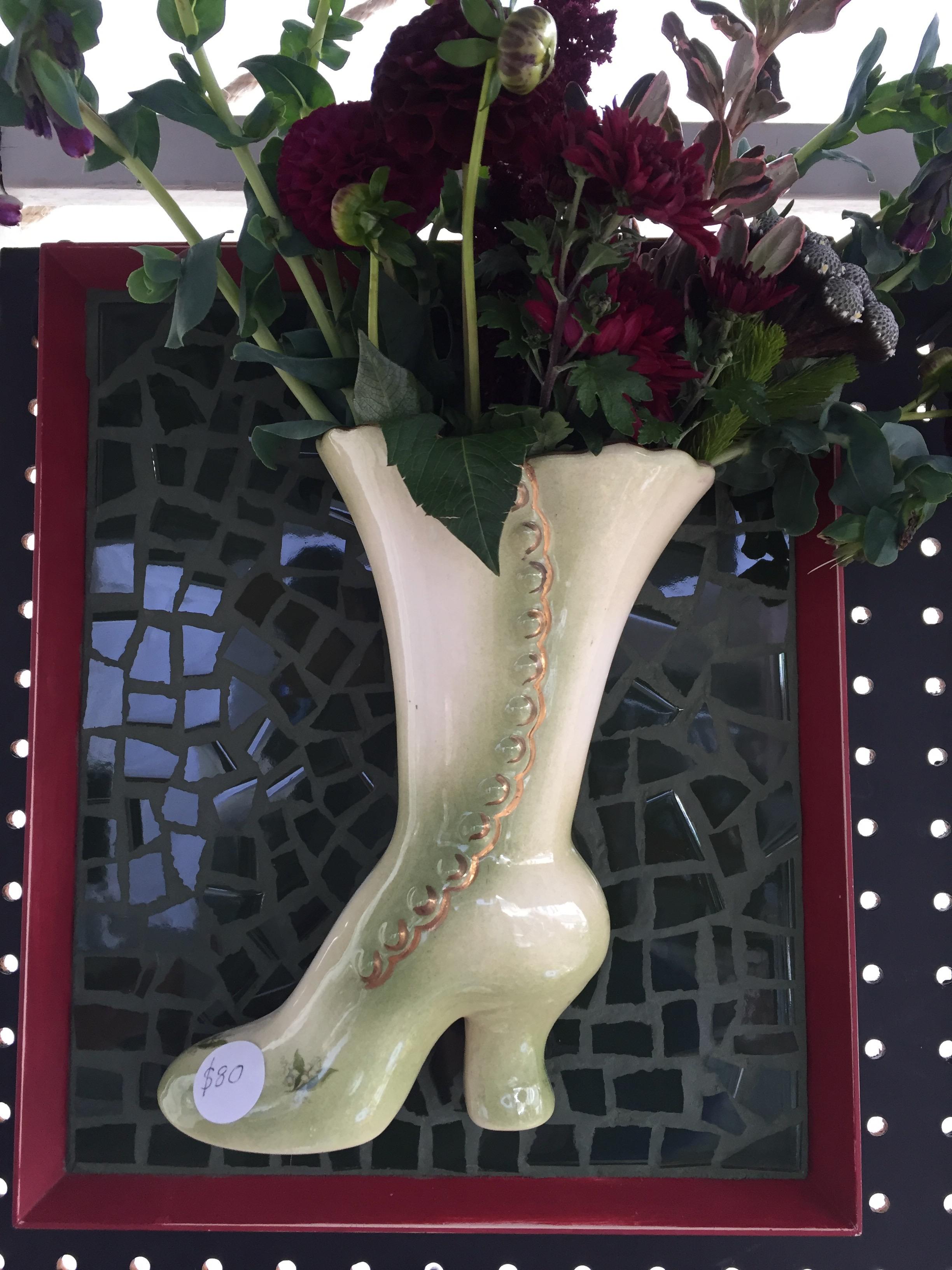 Shoe vase